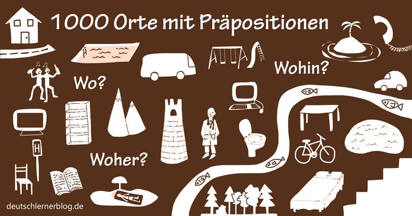 Giới Từ Chỉ Nơi Chốn Trong Tiếng Đức