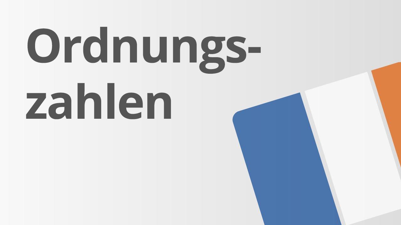 Số Thứ Tự Trong Tiếng Đức