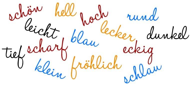 Thứ Tự Tính Từ Trong Tiếng Đức
