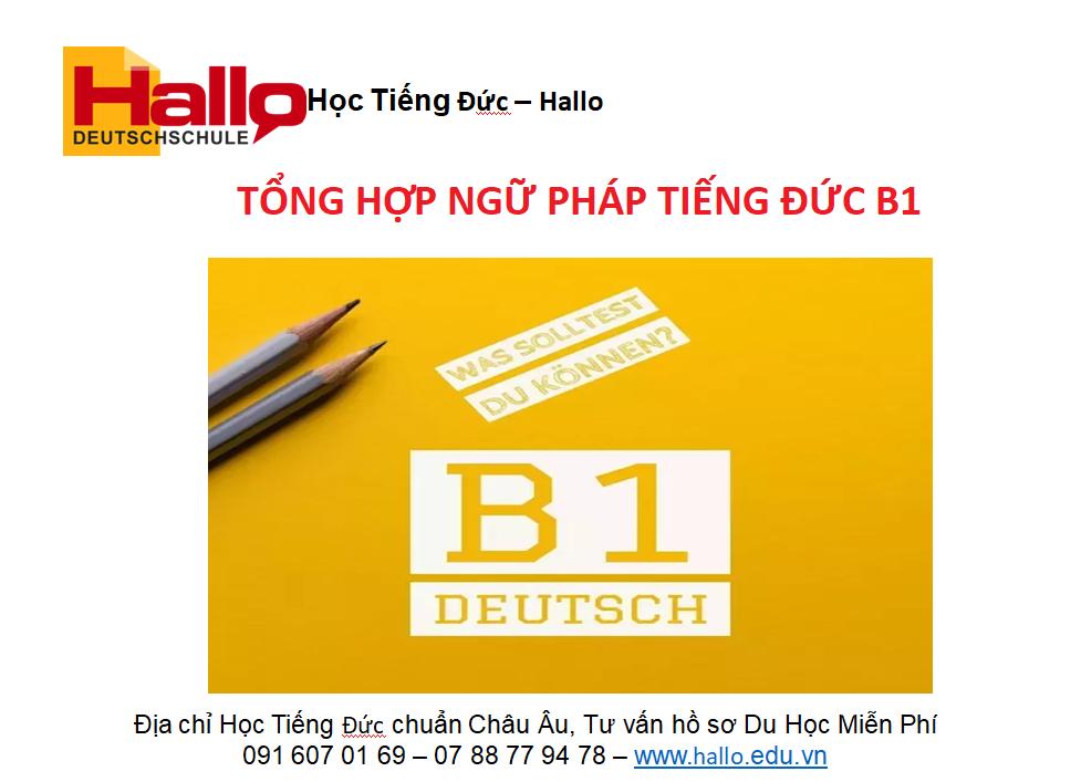 Tổng hợp ngữ pháp tiếng Đức B1