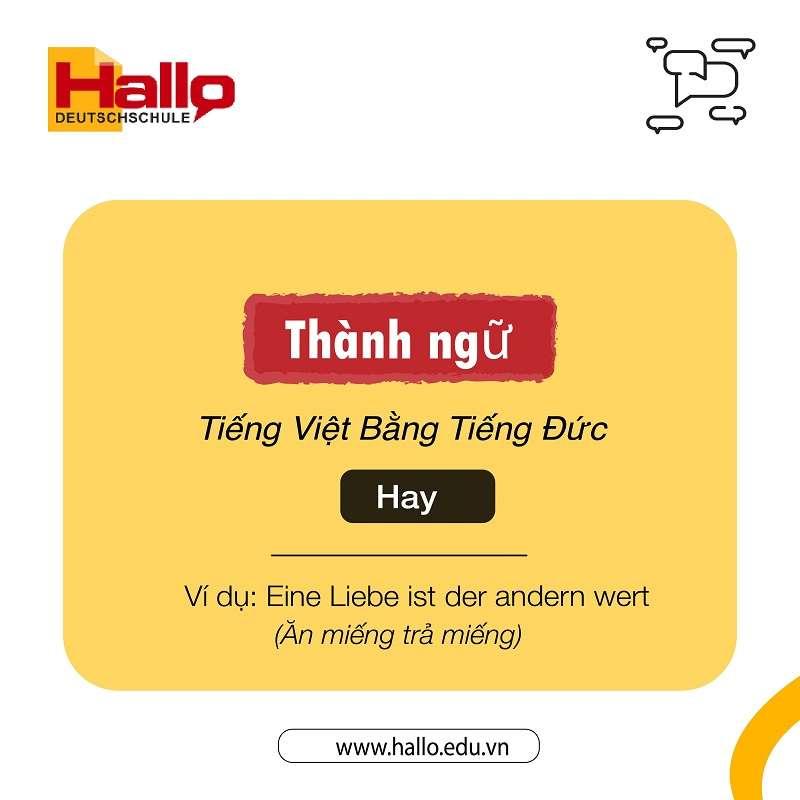 Thành Ngữ Tiếng Việt Bằng Tiếng Đức Hay